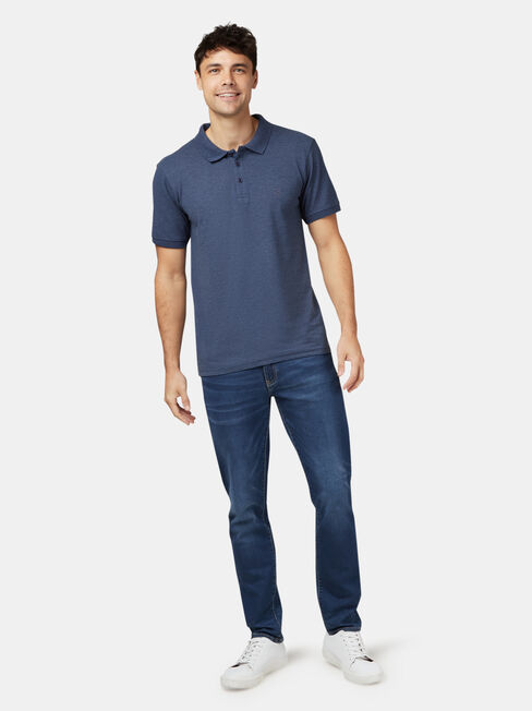 Charlie Short Sleeve Polo, Blue, hi-res