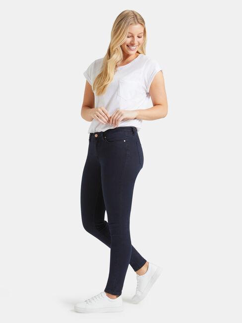 Curve Embracer Skinny jeans Indigo Ink, Dark Indigo, hi-res