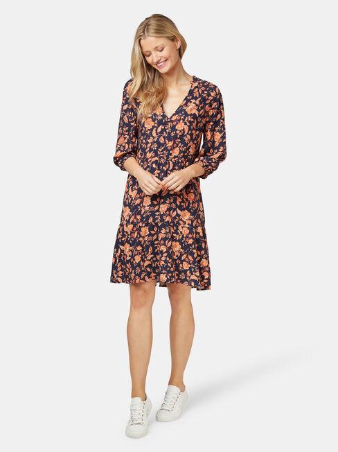 Natasha Tiered Dress, Floral, hi-res