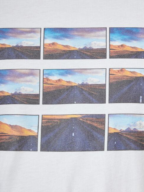 Noah Print Crew Tee, White, hi-res
