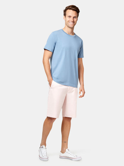 Pat Short Sleeve Basic Tee, Blue, hi-res