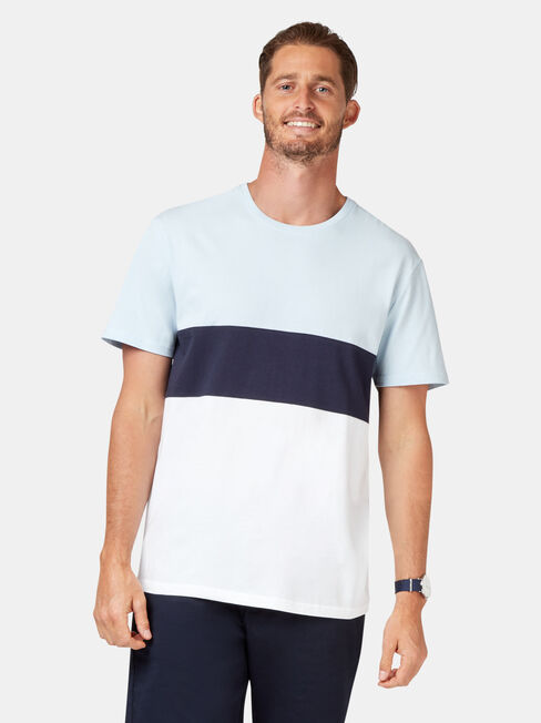 Lewis Short Sleeve Stripe Crew Tee
