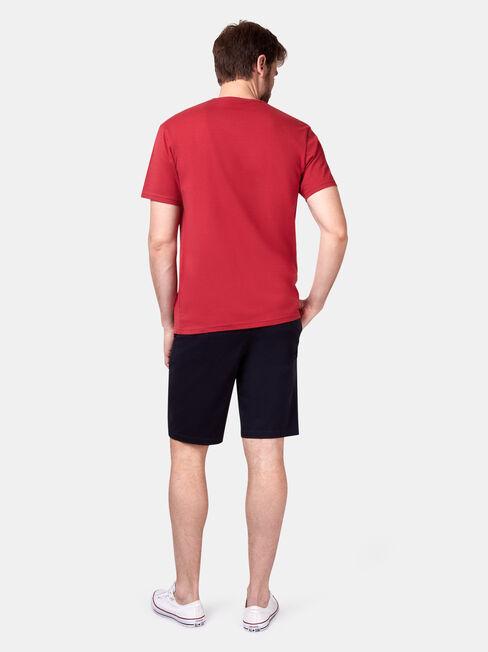 Preston Short Sleeve Basic Pocket Tee, Red, hi-res