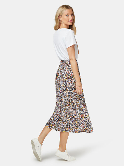 Imogen Split Midi Skirt, Multi, hi-res