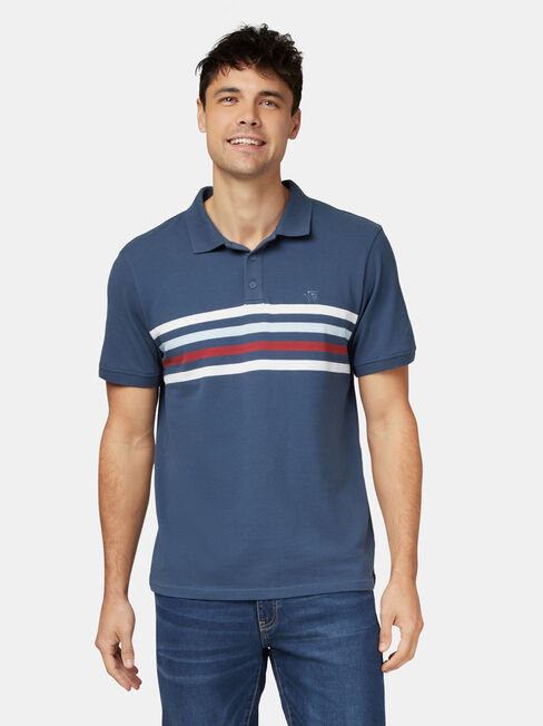 Darcy Short Sleeve Panel Stripe Polo