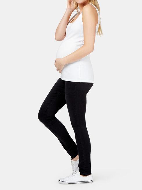 Heather Maternity Classic Skinny, Black, hi-res