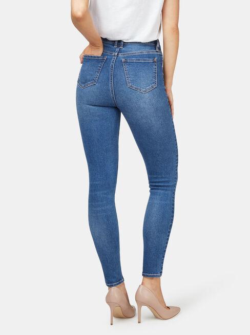 Ellie High Waisted Skinny 7/8 jeans, LightWash, hi-res