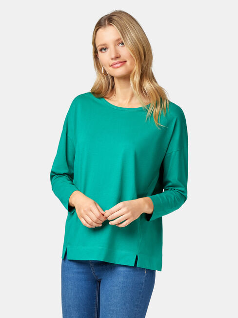 3/4 Sleeve Drop Shoulder Tee