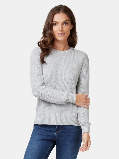 Danielle Honeycomb Pullover, Grey, hi-res