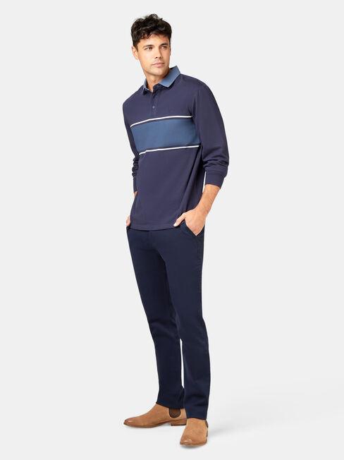 LS Casper Rugby Polo, Blue, hi-res