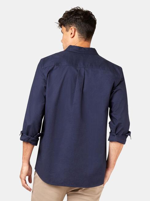 Heston Long Sleeve Oxford Shirt, Blue, hi-res