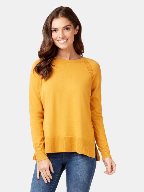 Stella Cotton Knit, Yellow, hi-res