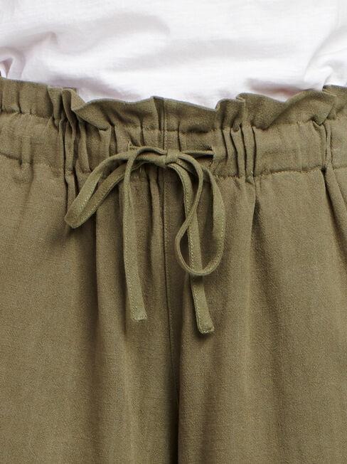 Joanna Core Linen Blend Short, Green, hi-res