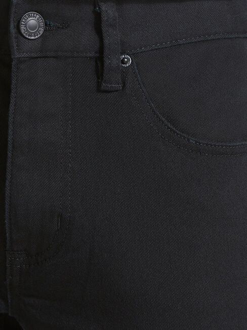 Slim Tapered Jeans Black Rinse, Black, hi-res