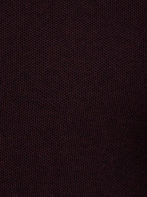 Zayn Waffle Crew Knit, Red, hi-res