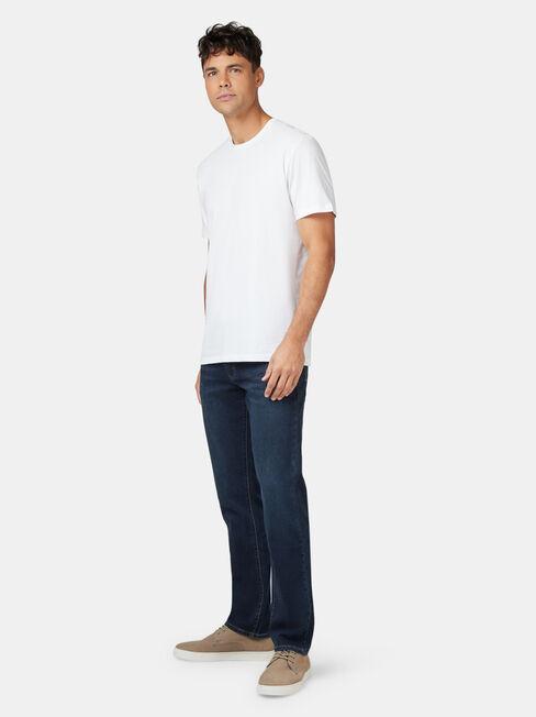 Basic Short Sleeve Tee, White, hi-res