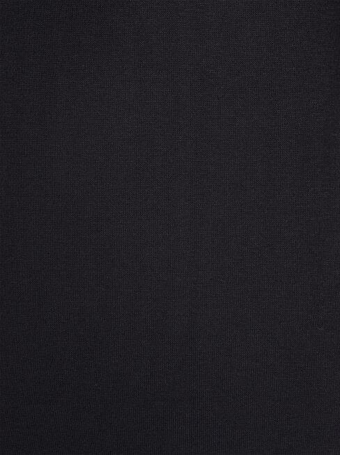 Maddie Soft Touch Curve Hem Pullover, Black, hi-res