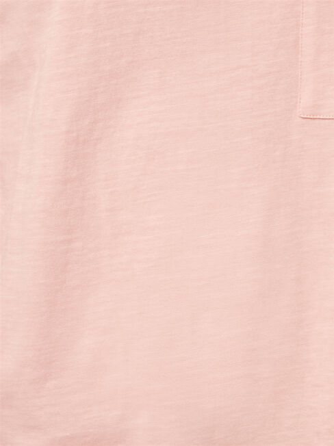 Relaxed Pocket Slub Tee, Pink, hi-res