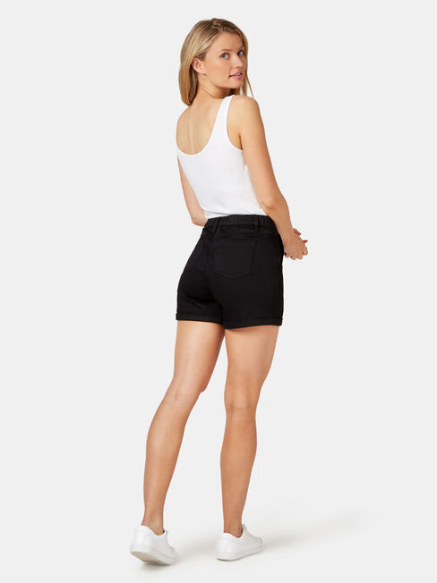 Sandy Luxe Lounge Short, Black, hi-res
