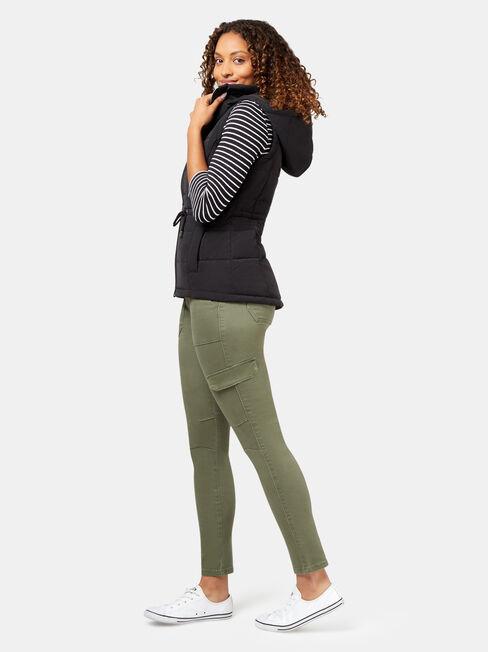 Belinda Padded Vest, Black, hi-res