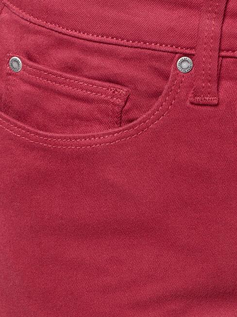 Harper Skinny Pant, Red, hi-res
