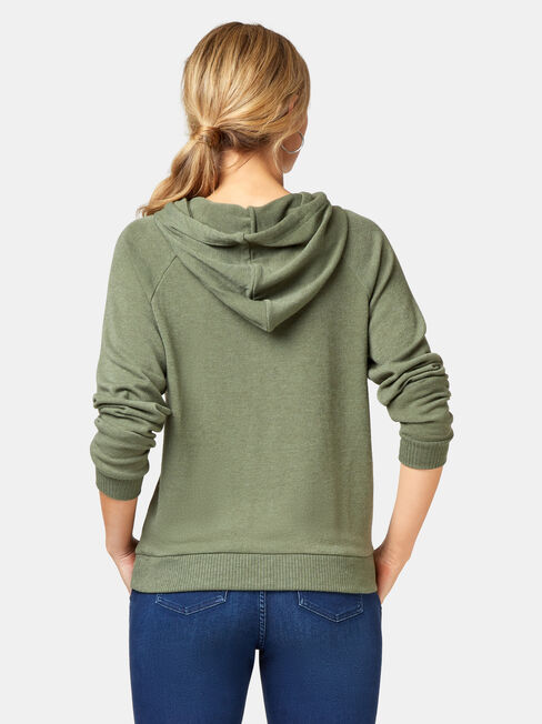 Khloe Soft Touch Hoodie, Green, hi-res
