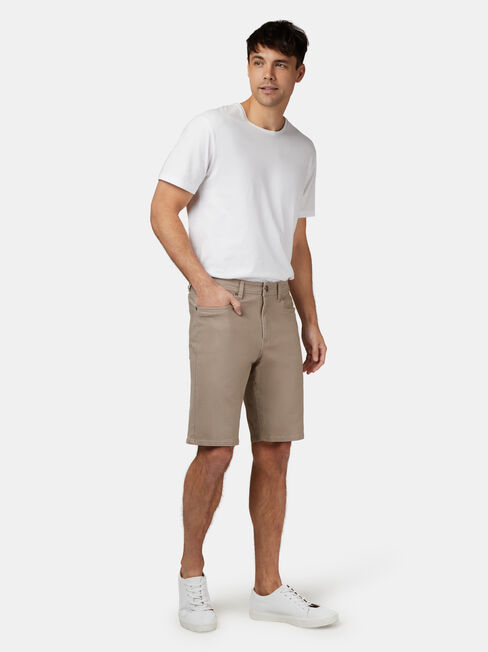 Milton 5 Pocket Short, Brown, hi-res