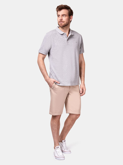 Jacob Short Sleeve Polo, Grey, hi-res