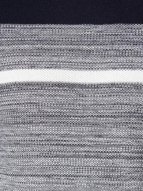 Grant Block Stripe Crew Knit, Blue, hi-res