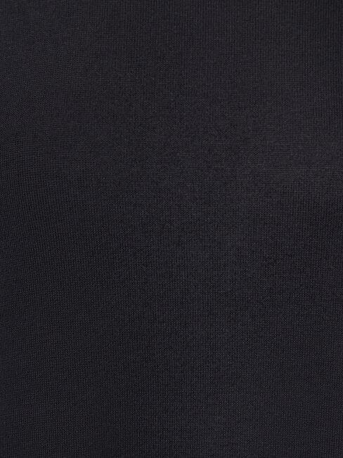 Amy Asymmetrical Hem Soft Touch Pullover, Black, hi-res