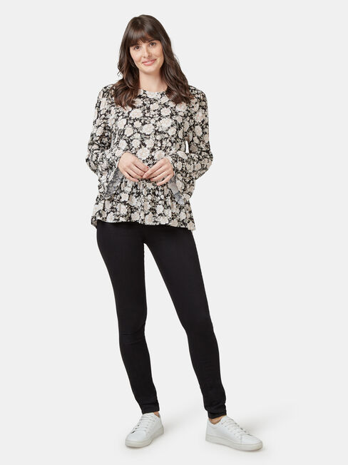 Kinsley Lace Detail Blouse, Floral, hi-res