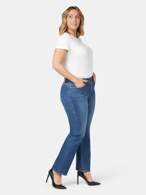 Curve Embracer Bootcut Jeans Blue Lake