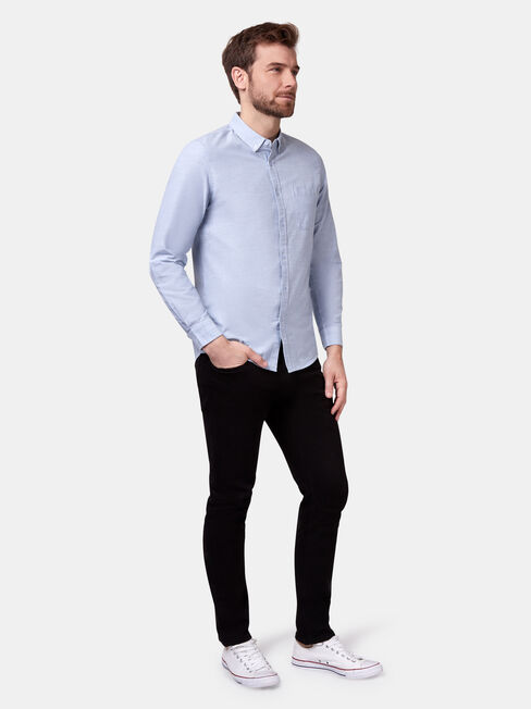 Bennett Long Sleeve Textured Shirt, Blue, hi-res