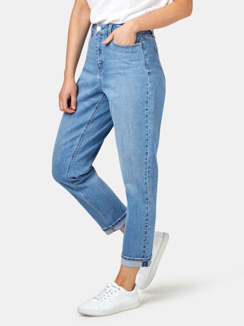 Mom Jeans, Light Indigo, hi-res