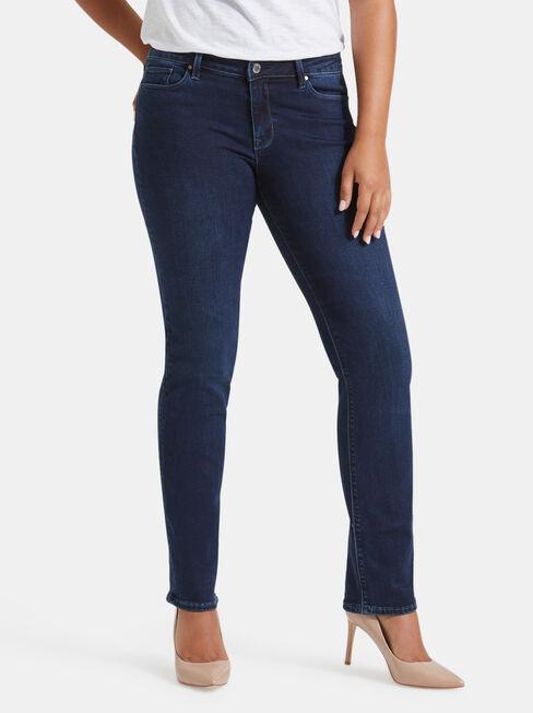 Slim Straight Jeans Deep Sea Blue