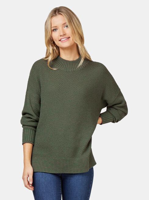 Sage Seed Stitch Pullover