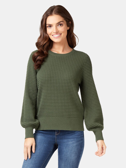 Quinn Bobble Cotton Knit