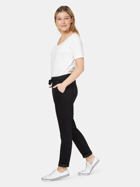 Amy Luxe Lounge Jogger, Black, hi-res