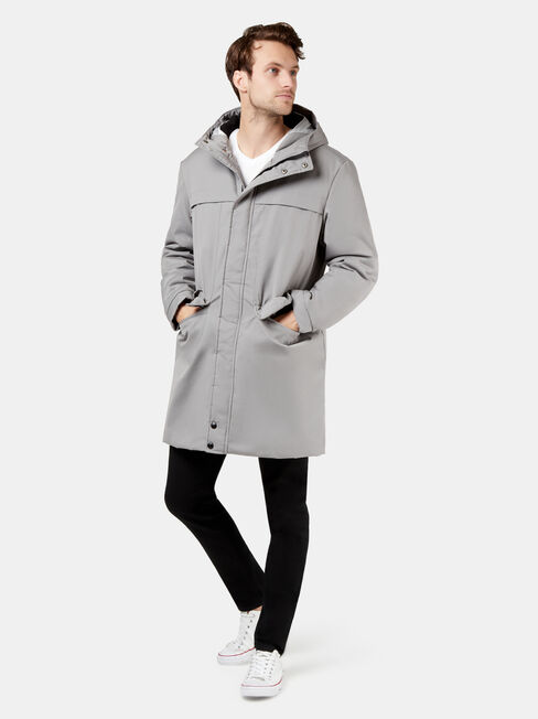 Dwait Longline Jacket, Grey, hi-res