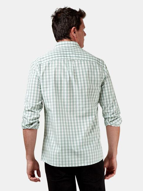 Knox Long Sleeve Check Shirt, Green, hi-res