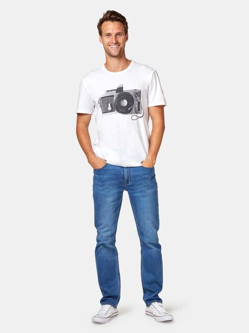 Slim Straight Jeans Light Wash, Light Indigo, hi-res
