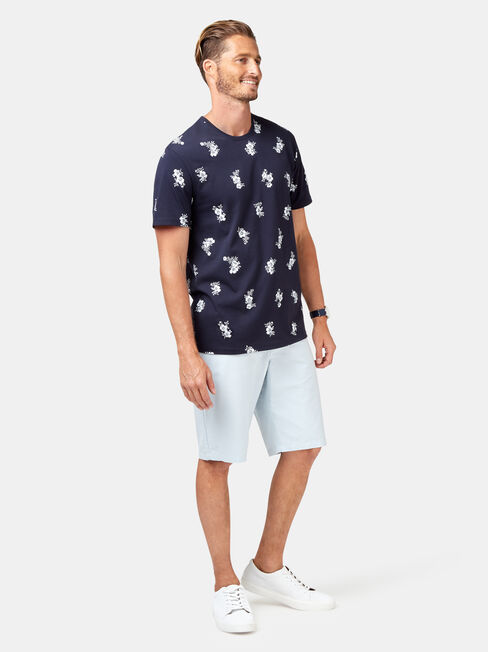 Franco Short Sleeve All Over Print Tee, Blue, hi-res