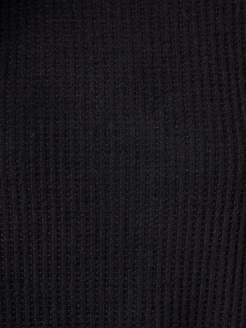 Luna Textured Top, Black, hi-res