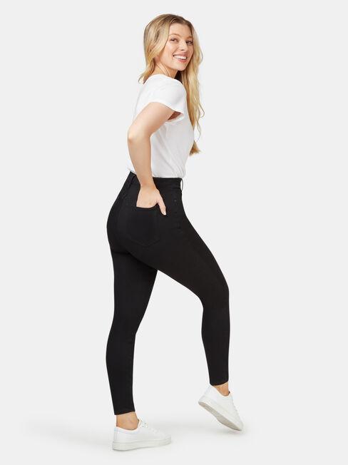 Freeform 360 Contour Curve Embracer High Waisted Skinny 7/8 Black, Black, hi-res