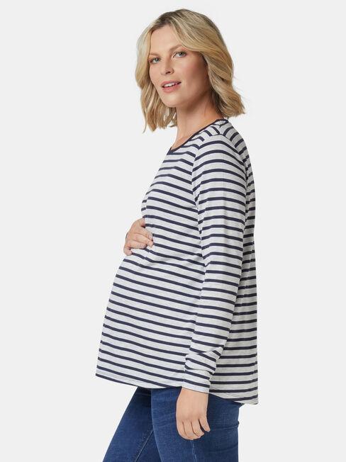 Tina Maternity Tee, Blue, hi-res