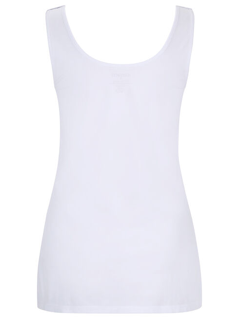 Post Maternity Nursing Tank, White, hi-res