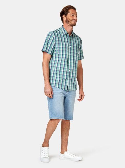 Todd Short Sleeve Check Shirt, Stripe, hi-res