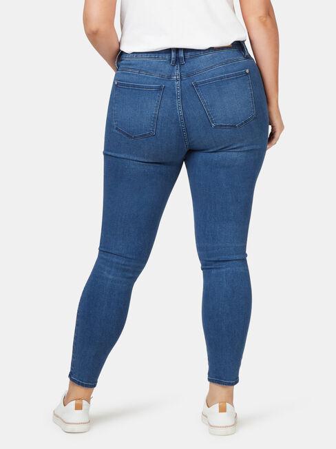 Eco Soft Curve Embracer Skinny 7/8 Jeans Bright Indigo, Mid Indigo, hi-res