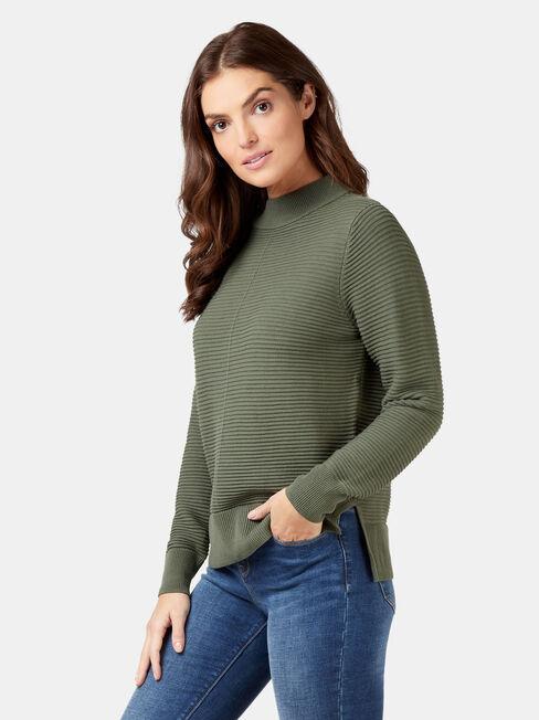 Hailey Cotton Knit, Green, hi-res