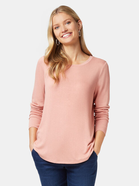Maddie Soft Touch Curve Hem Pullover